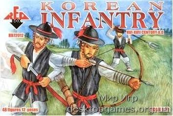 Korean infantry, XVI-XVII century A.D.