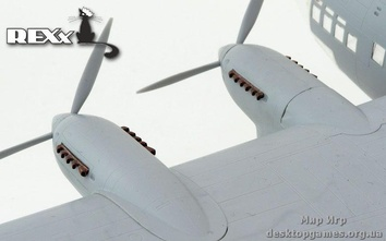 Металлические выхлопные патрубки для модели бомбардировщика Pe-8 (AM-35 engine)