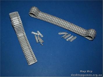 Металлические траки на King Tiger (поздние), E-50, E-75 (собранные в ленту)