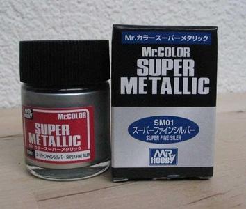 Супер-металлик хром, краска MR. Color Super Metallic - фото 2