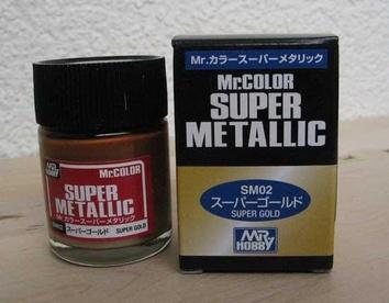 Супер-металлик золото, краска MR. Color Super Metallic