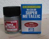 Супер-металлик серебро, краска MR. Color Super Metallic