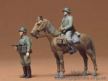 Немецкая пехота на лошадях