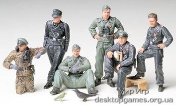Немецкий экипаж танка на отдыхе