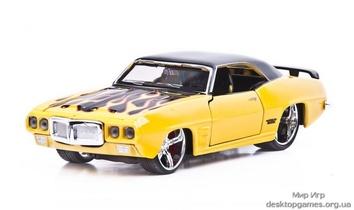 Автомодель 1969 Pontiac Firebird (жёлтый - тюнинг)