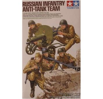 Советский противотанковый расчет