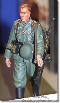 Немецкий пехотинец на маневрах (первый номер пулеметного расчета)