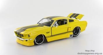 Автомодель 1967 Ford Mustang GT (жёлтый - тюнинг)