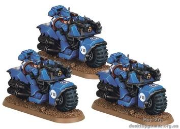 Space Marine Bikes Squad