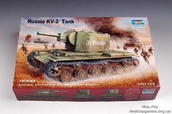 Пластиковая модель советского танка КВ-2 (серийный)