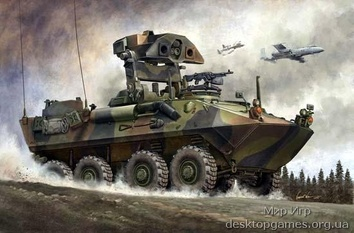 Противотанковый БТР Морской пехоты США LAV-AT
