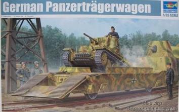 Модель немецкого броневагона с танком Panzertragerwagen