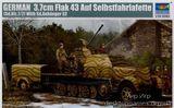 Немецкий полугусеничный тягач с 3.7cm Flak 43