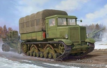 Советский артелерийский тягач «Ворошиловец«