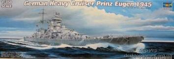 Пластиковая модель немецкого линкора Prinz Eugen 1945