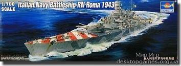 Сборная модель флагманского крейсера RN Roma 1942