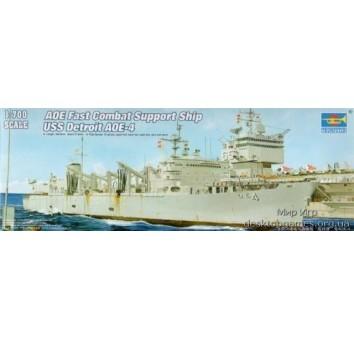 Сборная модель боевого корабля США Детроит AOE-4