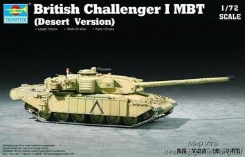 Пластиковая модель танка Challenger 1MBT