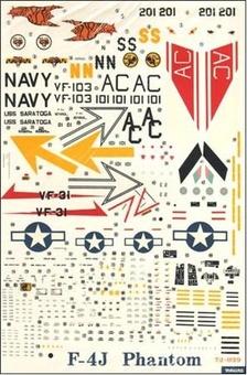 Декаль F-4J PHANTOM