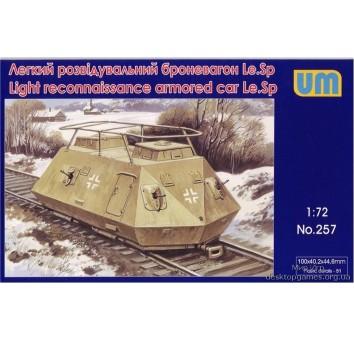 Легкий разведывательный броневагон Le.Sp