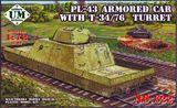 PL-43 бронированный автомобиль с Т-34/76 башней