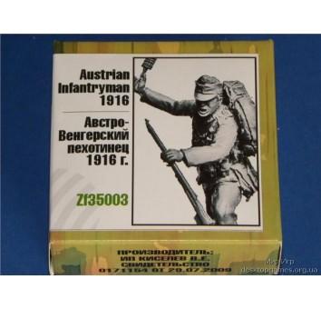 Австро-Венгерский пехотинец 2 1916 г.