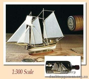 Модель парусного корабля Ханна (Hannah)