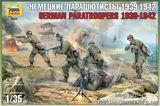 Сборные фигурки немецких парашютистов 1939-1942