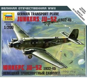 Масштабная модель немецкого транспортного самолета JU-52