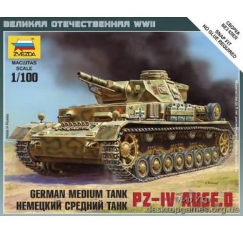 Масштабная модель немецкого танка Pz-4 D