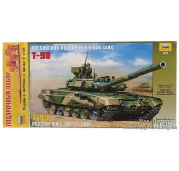 Подарочный набор с моделью танка T-90