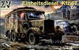 Einheitsdiesel Kfz.61 WW2 German truck