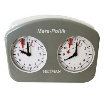 Шахматные часы Hetman серый