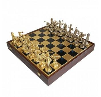 "Шахматы ""Manopoulos"" Древний Рим, синие 54х54см"