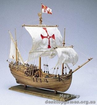 Сборный деревянный корабль Pinta (Пинта)