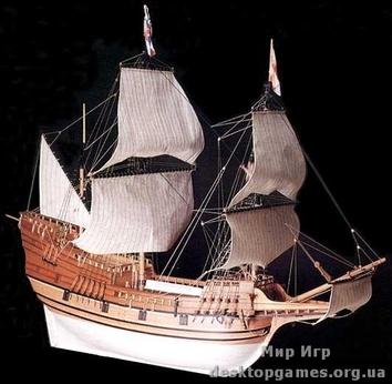 Модель корабля из дерева Мейфлавер (Mayflower)