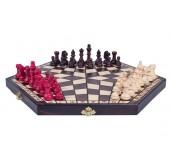 Шахматы для троих коричневые