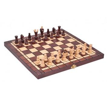 Шахматы + шашки (коричневые)