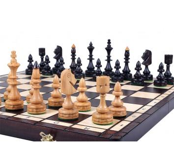 Шахматы INDIAN с вставкой, коричневые