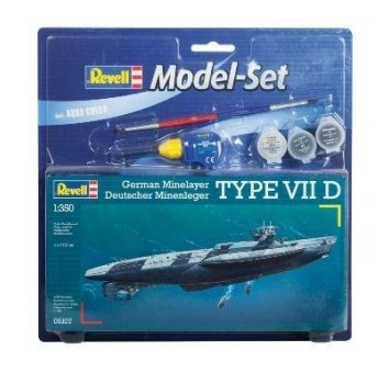 Model Set Подводная лодка (1939-1944гг.,Германия) U-BoatType VII D; 1:350
