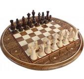 Шахматы 3100 Intarsia круглые