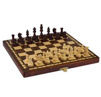 Шахматы  магнитные коричневые