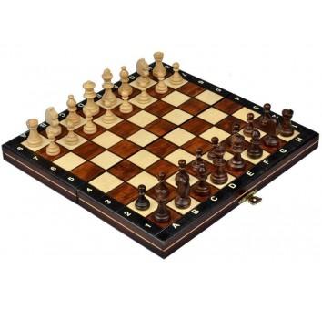 Шахматы магнитные большие, махагон
