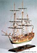 Модель корабля из дерева Баунти (HMS Bounty)