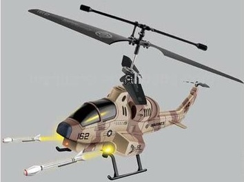 Радиоуправляемый вертолет Апач с ракетной стрельбой