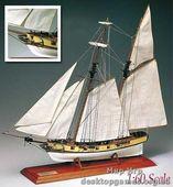 Модель деревянного корабля Рогер Б. Тани (Roger B. Taney)