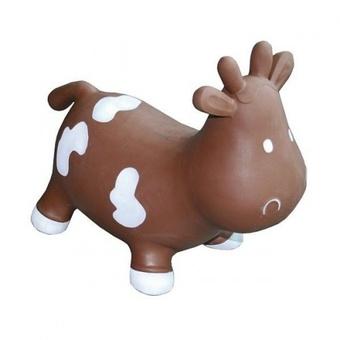 Прыгун Kidzzfarm Коровка Бетси Шоколадная с белым