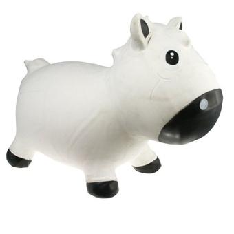 Прыгун Kidzzfarm лошадка Гарри Белый с черным