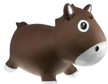 Прыгун Kidzzfarm лошадка Гарри Шоколадный с белым