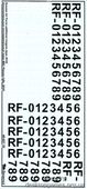 Декаль: Дополнительные опознавательные знаки ВВС России (образца 2010 года)